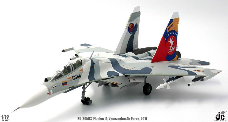 Mô Hình Máy Bay Venezuelan Air Force Sukhoi SU-30MK2 Flanker-G 0564 | JC Wings 1:72