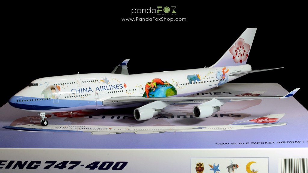 Mô Hình Máy Bay China Airlines Boeing 747-400 B-18203 Jimmy | JC Wings 1:200