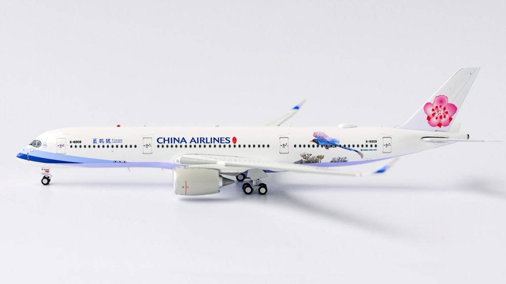 Mô Hình Máy Bay China Airlines Airbus A350-900 B-18908 Urocissa Caerulea | Aviation 1:400