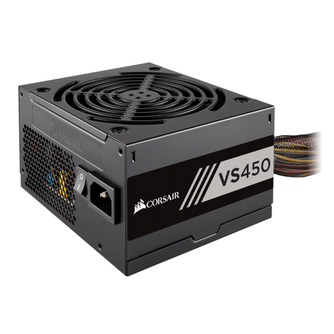 CORSAIR VS450 - 450W - 80Plus White Single Rail