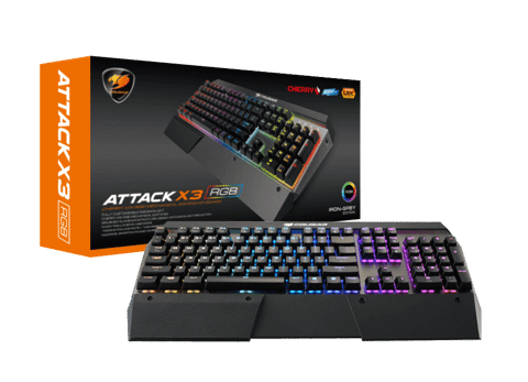 Cougar Attack X3 RGB Speedy - Premium Cherry MX Silver Gaming Keyboard