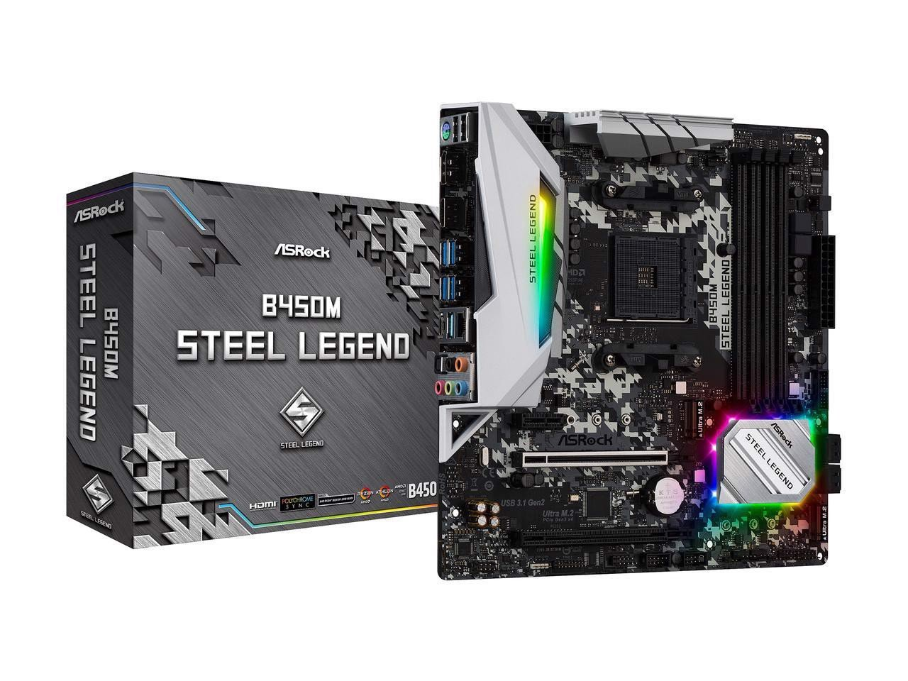 ASRock B450M Steel Legend Socket AM4