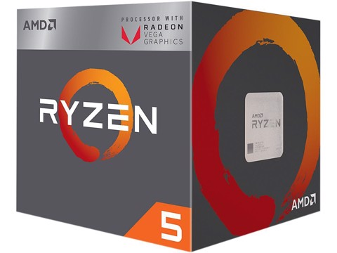 AMD Ryzen 5 2400G 3.6GHz (3.9 GHz Turbo) Socket AM4 With iGPU Vega11