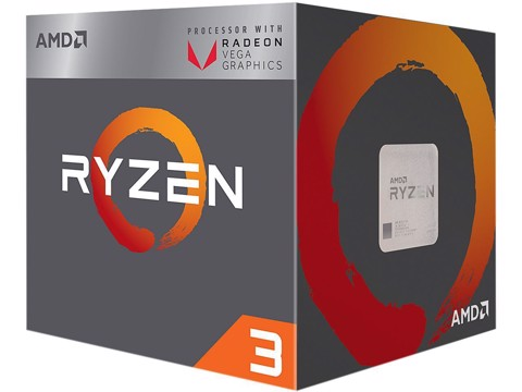 AMD Ryzen 3 2200G 3.6GHz (3.7 GHz Turbo) Socket AM4 With iGPU Vega8