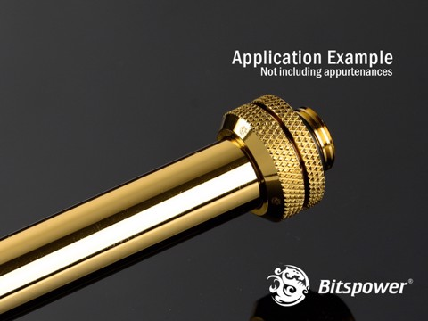 Bitspower None Chamfer Brass Golden 300 mm - OD 14MM Hard Tubing