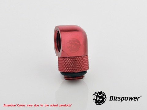Bitspower G1/4'' Deep Blood Red Rotary 90-Degree IG1/4'' Extender