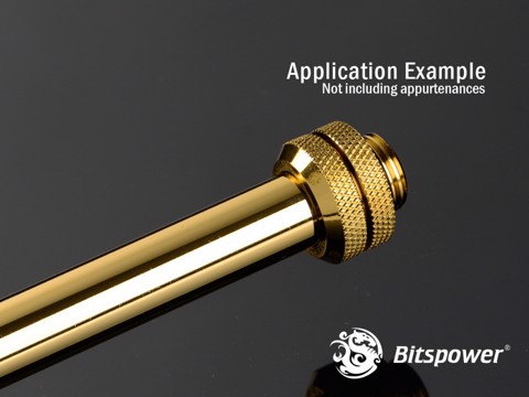 Bitspower None Chamfer Brass Golden 300 mm - OD 12MM Hard Tubing