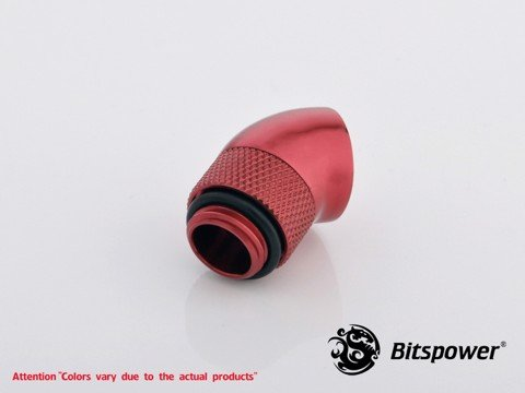 Bitspower G1/4'' Deep Blood Red Rotary 45-Degree IG1/4'' Extender