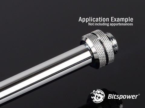 Bitspower None Chamfer Brass Shining Silver 300 mm - OD 12MM Hard Tubing