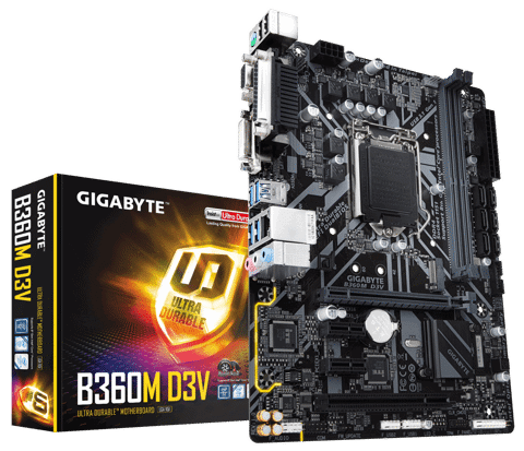 Gigabyte B360M-D3V - Socket 1151v2 Coffee Lake