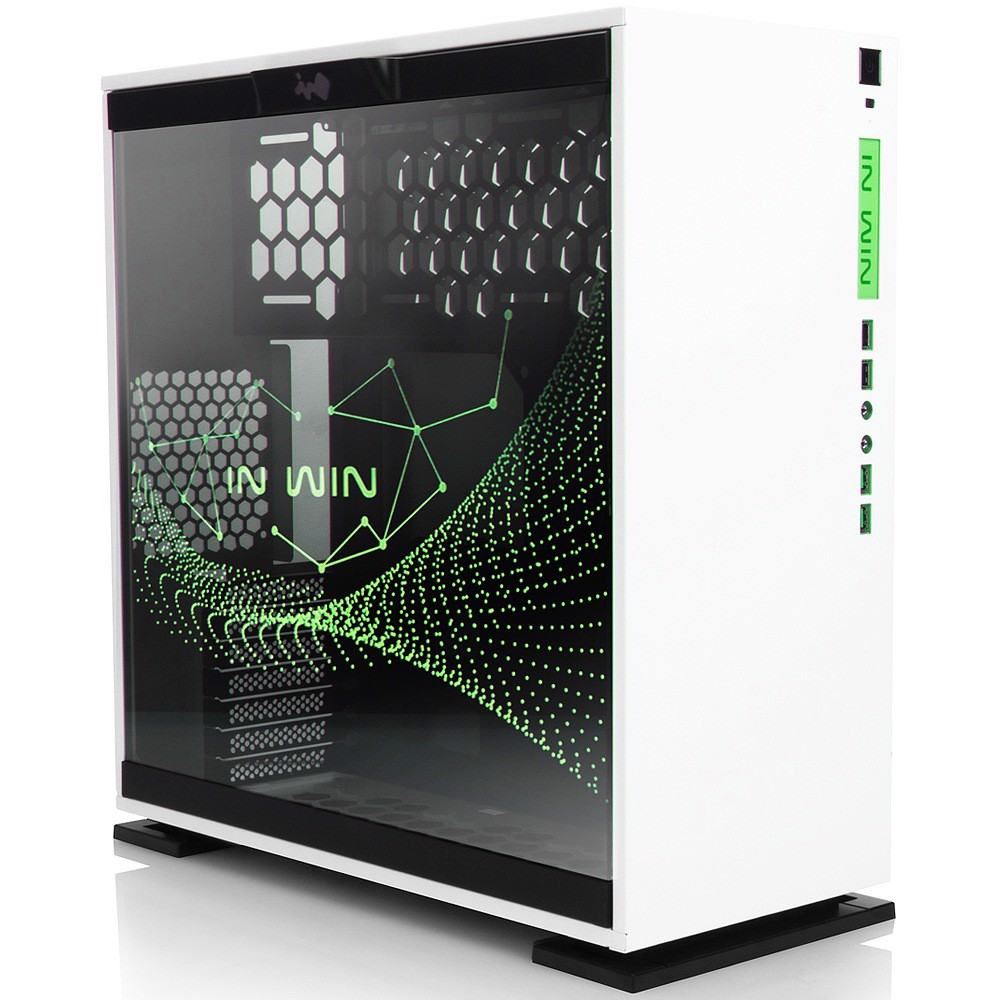 In-Win 303 RGB White - Full Side Tempered Glass Mid-Tower Case