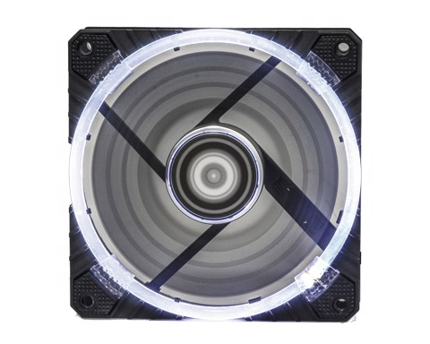 ID Cooling Concentric Circular CF-12025 White Led - PWM High Performance Fan
