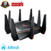 ASUS ROG Rapture GT-AC5300 (Gaming Router) AC5300 WTFast, AiMesh 360 WIFI Mesh, 3 băng tần, chipset Broadcom, AiProtection, USB 3.0
