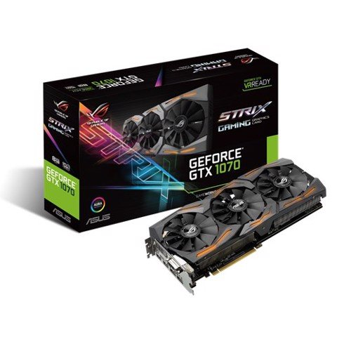 Asus Nvidia GTX 1070 Strix 8GB Gaming ( 256 Bit ) DDR5