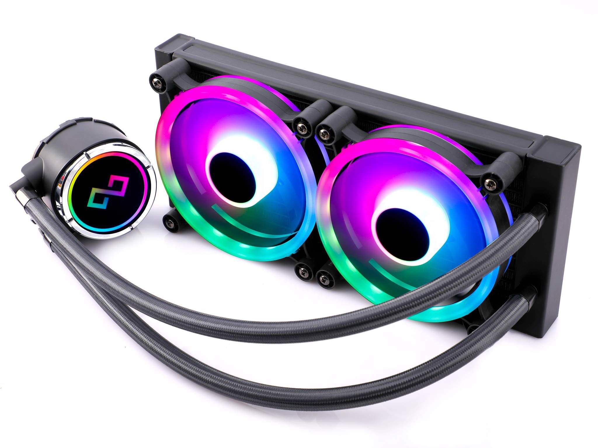 Infinity Dark Wizard Addressable RGB 240mm liquid CPU cooler - 3x Spectrum Pro Edition