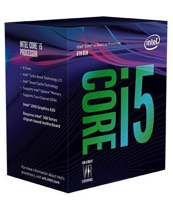 Intel Core i5-8600 Processor 9M 3.1ghz Turbo up to 4.3Ghz Cache- Socket 1151v2 Coffee Lake
