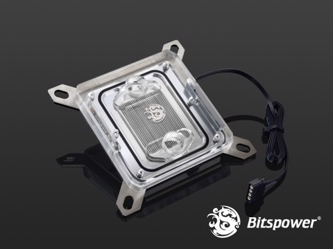 Bitspower Summit ELXZ RGB-Nickel-Acrylic