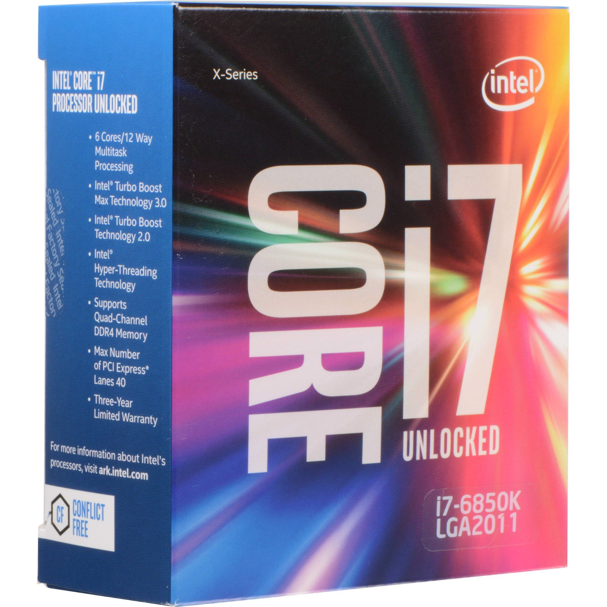 Intel® Core™ i7-6850K Processor 15M Cache, up to 3.80 GHz