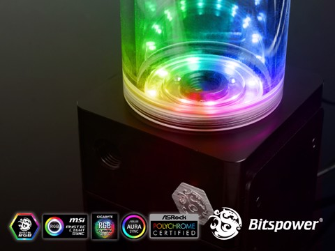 Bitspower D5 TOP Reservoir Digital RGB (POM)