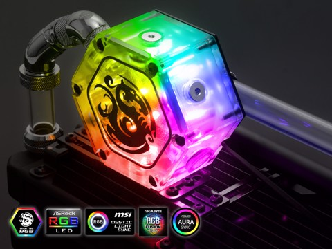 Bitspower Water Tank Hexagon 34 With Digital RGB