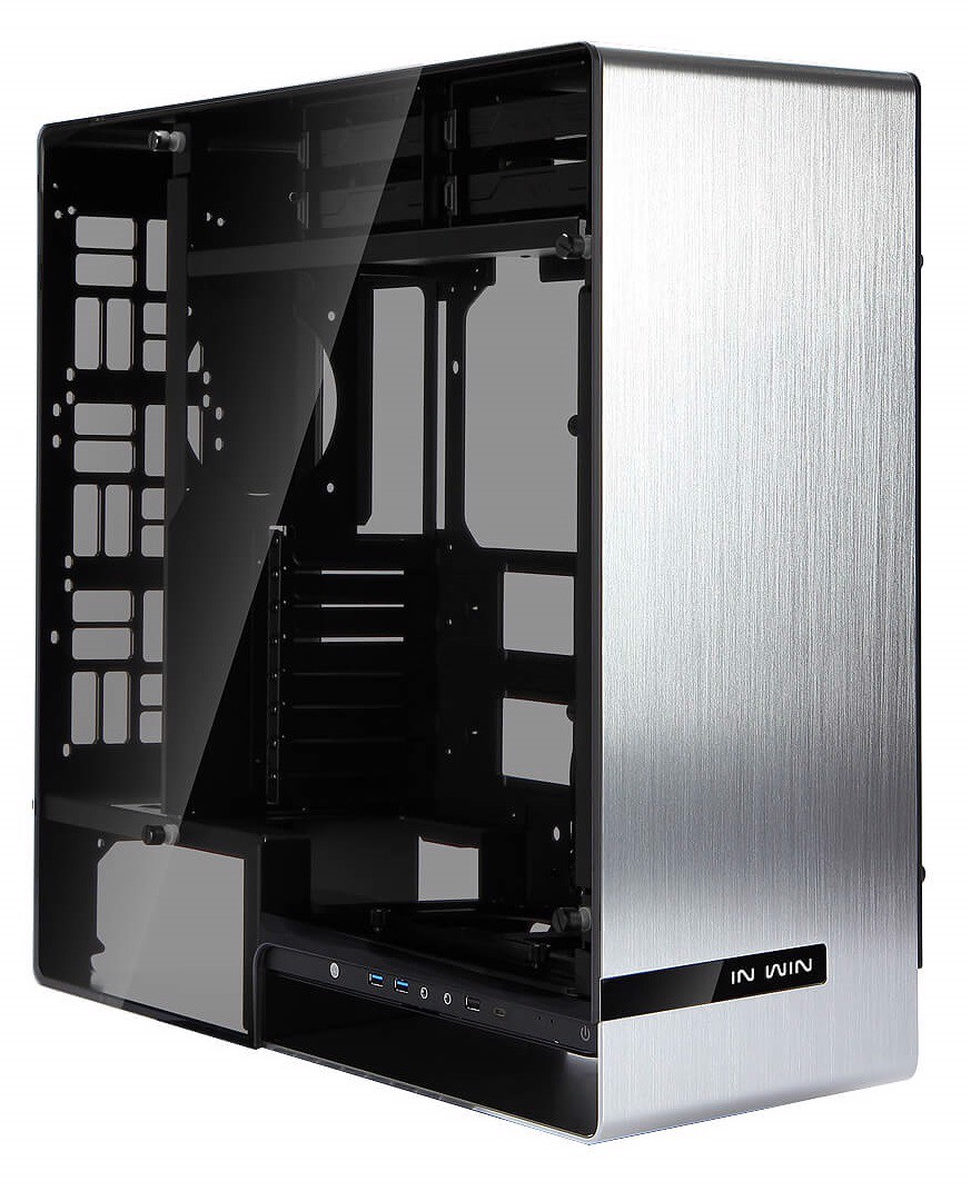 In-Win 909 Silver Edition - Aluminium & Tempered Glass Full-Tower Case