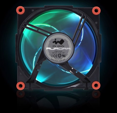 In-Win Aurora RGB Fan Kit - Black/Red (3 fans)