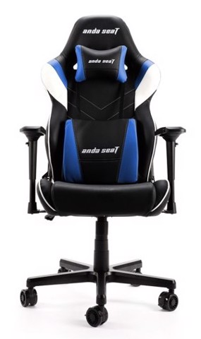 Anda Seat Assassin King V2 Black/Blue - Full PVC Leather 4D Armrest Gaming Chair