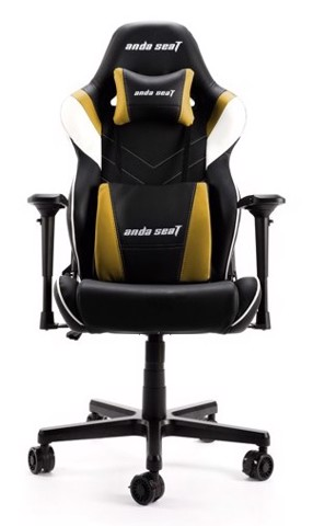 Anda Seat Assassin King V2 Black/Yellow - Full PVC Leather 4D Armrest Gaming Chair