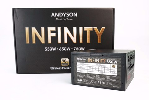 Andyson Infinity 550W All Japan Cap - Full Modular - Single Rail - 90 Plus Gold PSU