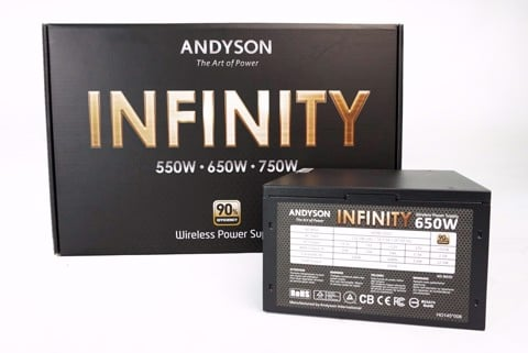 Andyson Infinity 650W All Japan Cap - Full Modular - Single Rail - 90 Plus Gold PSU