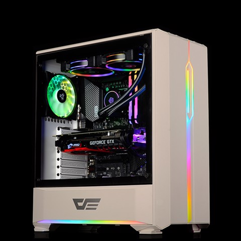 Dark Flash T20 White RGB 3X - Tempered Glass Case