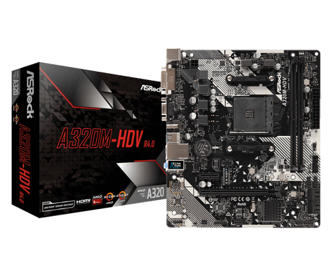 ASROCK A320M-HDV R4.0 – Socket AM4