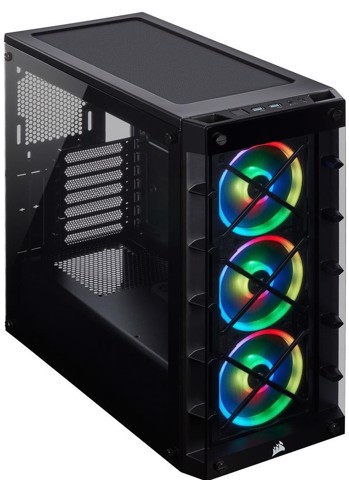 Corsair 465X RGB Tempered Glass - Black - Mid Tower