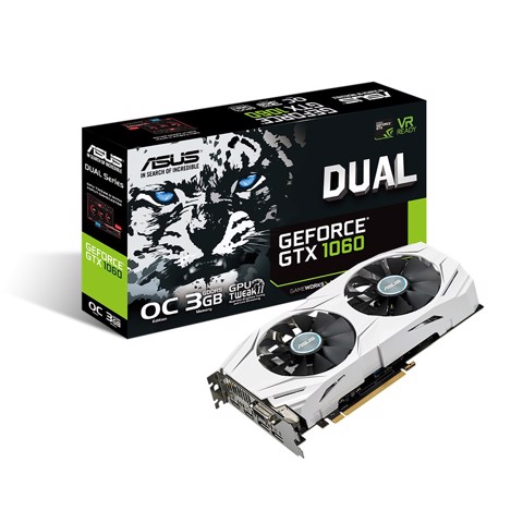 Asus Nvidia GTX 1060 3GB Dual-fan OC Edition