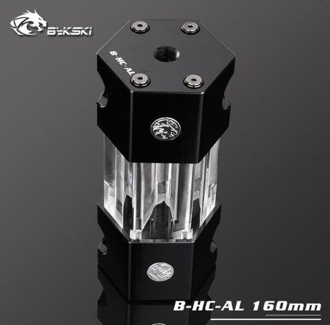 Bykski B-HC-AL Black - 160mm Hexagon Water Tank