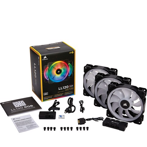 Corsair LL 120 RGB Fan - 3 Fans Pack with Lightning Node Pro