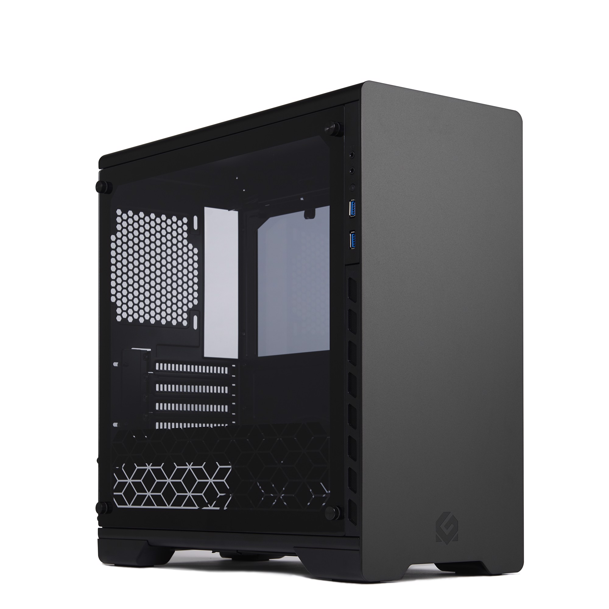 Metallic Gear Neo Micro ATX Black Tempered Glass - Full Aluminium Case