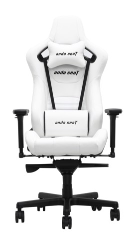Anda Seat Infinity King Pure White  - Full PVC Leather 4D Armrest Gaming Chair