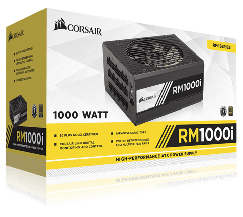 Corsair RM Series 1000i - 80 Plus Gold - Full Modular
