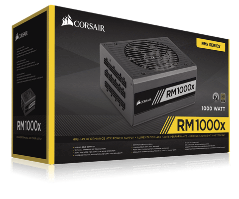 Corsair RM Series 1000X - 80 Plus Gold - Full Modular