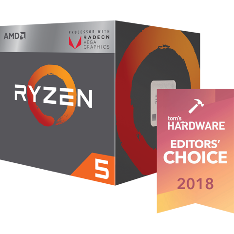AMD Ryzen 5 2400G ( Up to 3.9Ghz) With  RX Vega 11 GPU