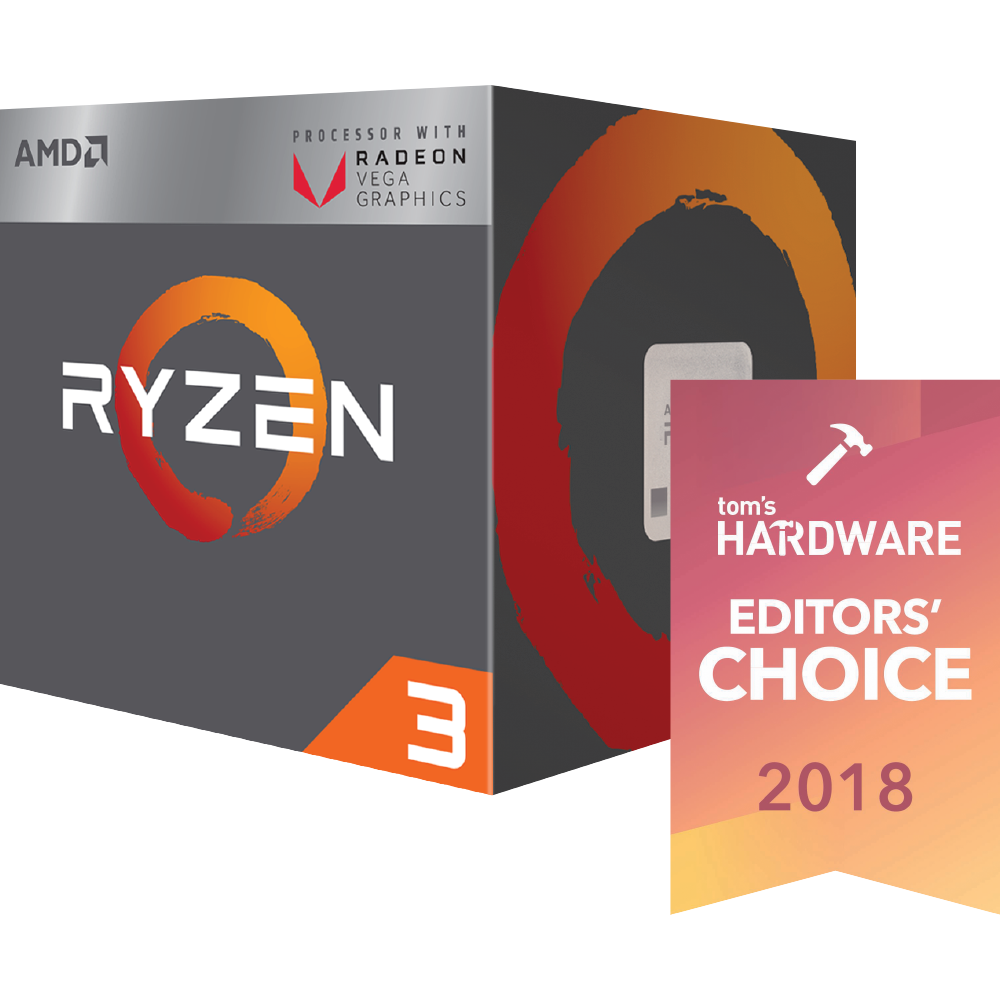 AMD Ryzen 3 2200G (Up to 3.7Ghz) With RX Vega 8 GPU