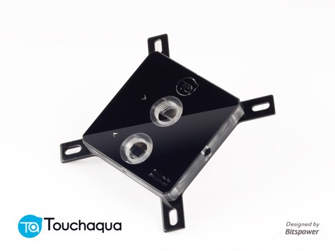 Touchaqua CPU Block Acrylic Clear - Black Armor Edition