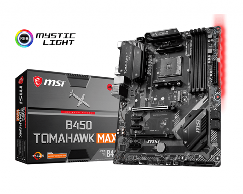 MSI B450 TOMAHAWK MAX – Socket AM4