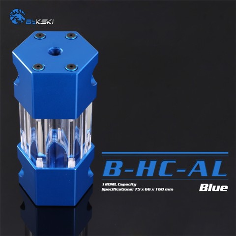 Bykski B-HC-AL Blue - 160mm Hexagon Water Tank