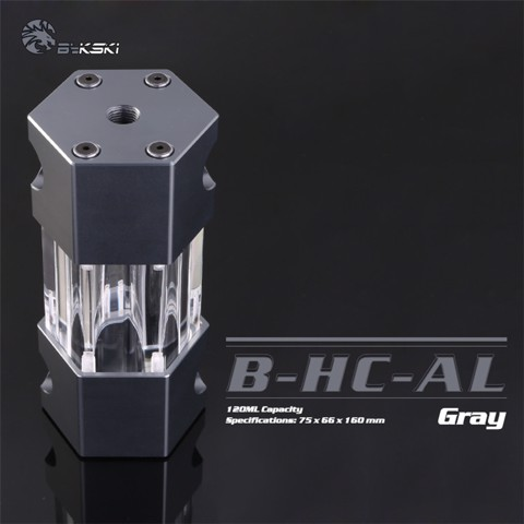 Bykski B-HC-AL Grey - 160mm Hexagon Water Tank