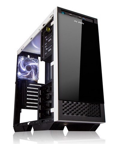 In-Win 503 White/Black Tempered Glass - Mid Tower Case