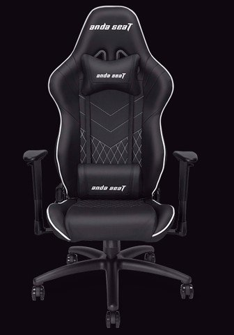 Anda Seat Assassin Full Black V2 - Full PVC Leather 4D Armrest Gaming Chair