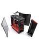 Phanteks Eclipse P400 Black/Red Tempered Glass