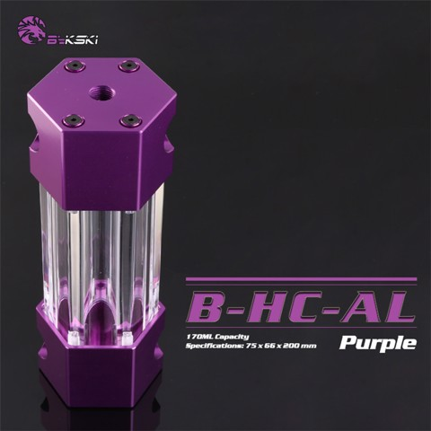 Bykski B-HC-AL Purple - 200mm Hexagon Water Tank